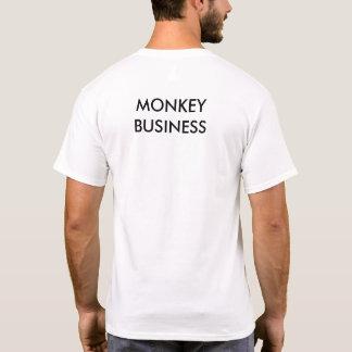 Camiseta marcada con etiqueta mono fresco