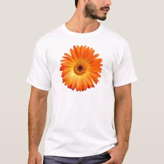 Camiseta Margarita viva del Gerbera del naranja y del