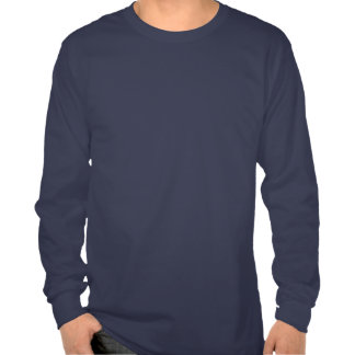 Camiseta/marina de guerra largas de la manga camiseta