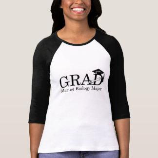 Camiseta marina del graduado de la biología