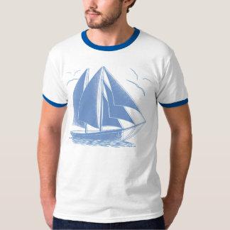Camiseta Marinero náutico del velero azul
