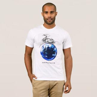 Camiseta Mármol azul grande inalámbrico del #jWe el | del
