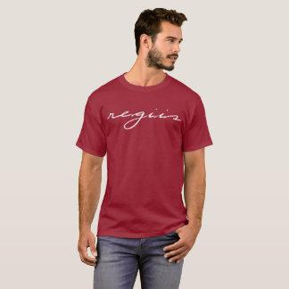 Camiseta marrón con el diseño blanco de Regiis en