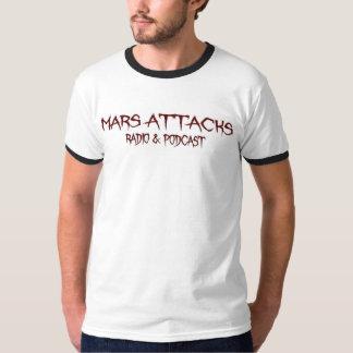 Camiseta Marte ataca el podcast - campanero blanco básico