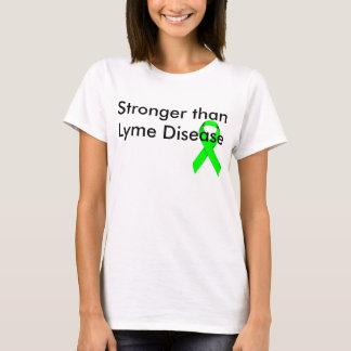 Camiseta Más fuerte que la enfermedad de Lyme