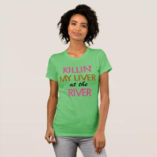 Camiseta Matando a mi hígado en el Río-Texto solamente