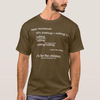 Camiseta Matemáticas en Brown - hombres