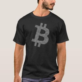 Camiseta Matriz blanca de la fuerza de Bitcoin en gran