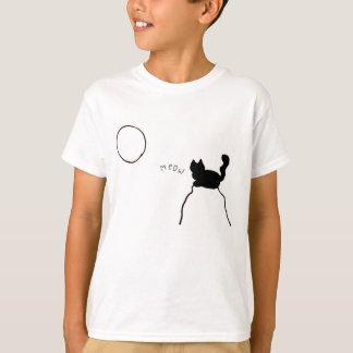 Camiseta Maullido del gato negro