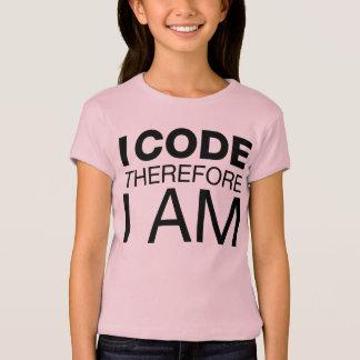 Camiseta Me cifro por lo tanto estoy