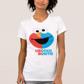 Camiseta Media cara de Elmo y de la galleta