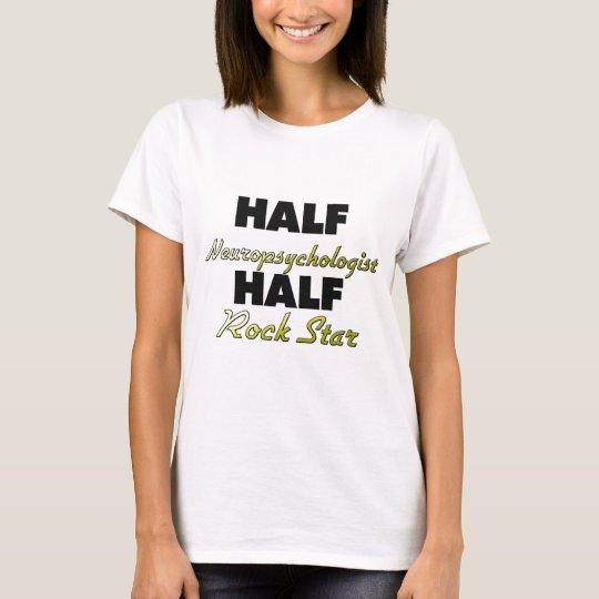 Camiseta Media estrella del rock del medio neuropsicólogo