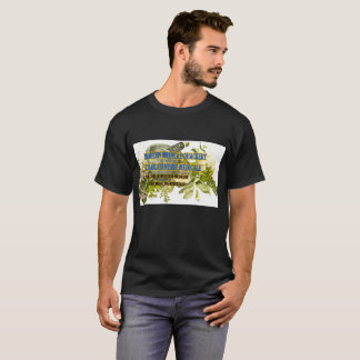 Camiseta médica moderna negra de la curandería de