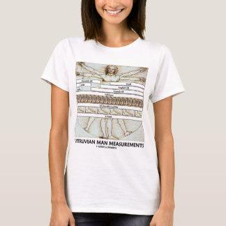 Camiseta Medidas del hombre de Vitruvian (Leonardo da