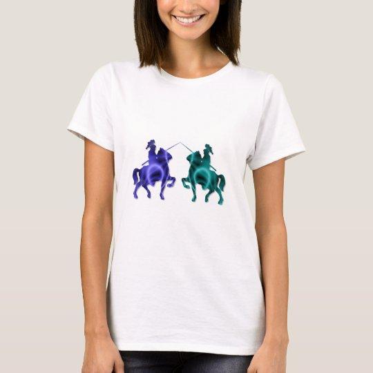 Camiseta medieval de las señoras de los caballos