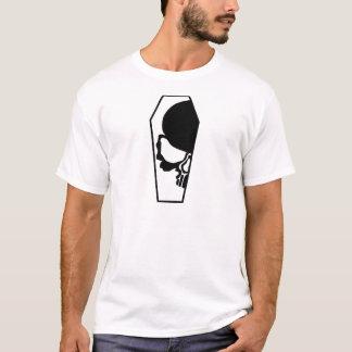 Camiseta Medio cráneo en ataúd