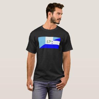 Camiseta medio símbolo de la bandera de Guatemala Honduras