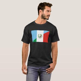 Camiseta medio símbolo de la bandera de Guatemala México
