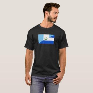 Camiseta medio símbolo del país de la bandera de Guatemala
