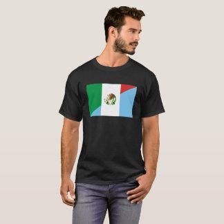 Camiseta medio símbolo del país de la bandera de México