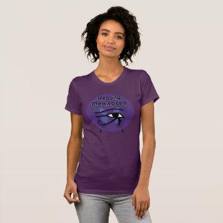Camiseta Meditated pesadamente con el ojo de Horus