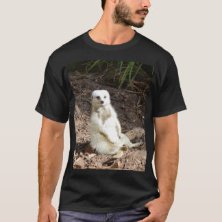 Camiseta Meerkat blanco fresco,