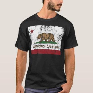 Camiseta mendocino de la bandera de California apenado