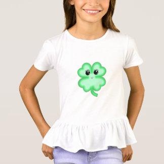 Camiseta Menta divertida linda del verde del trébol de la
