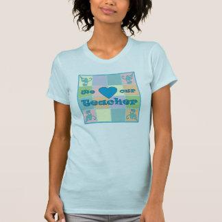 Camiseta menuda (azul) del remiendo del profesor