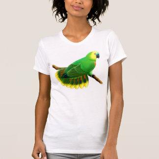 Camiseta menuda del loro delantero azul del Amazon