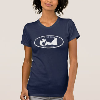 Camiseta menuda oscura de las señoras del punto de