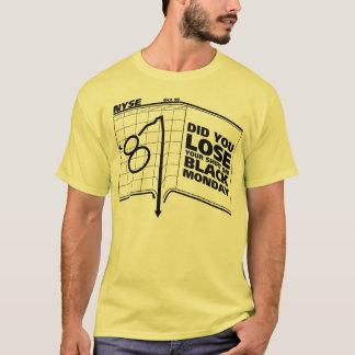 Camiseta Mercado de acción negro de lunes 1987
