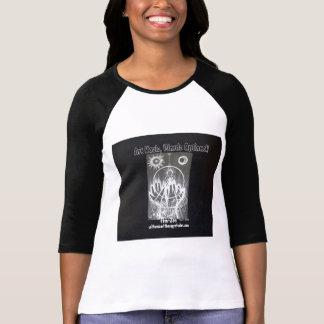 Camiseta Mercado de cambios raglán del zen b/w