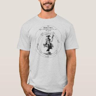 Camiseta Mercury y caduceo Mercurius alquímico