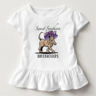 Camiseta meridional dulce del bebé del sabueso