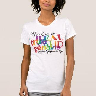Camiseta Mi amor es matrimonio homosexual real de la ayuda