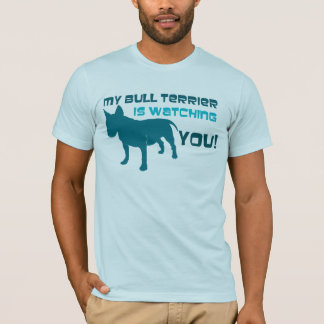 Camiseta Mi bull terrier le está mirando