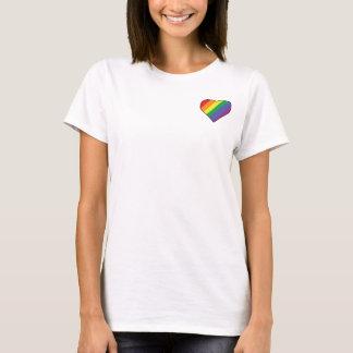 Camiseta Mi corazón de LGBT