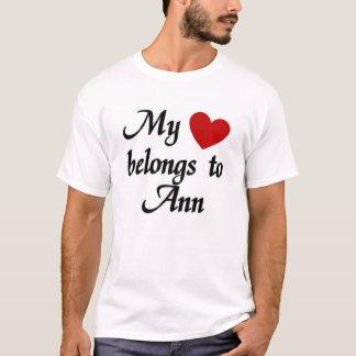 Camiseta Mi corazón pertenece a Ana