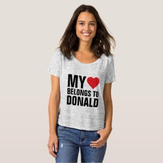 Camiseta Mi corazón pertenece a Donald