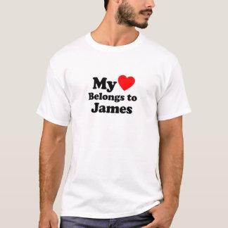 Camiseta Mi corazón pertenece a James