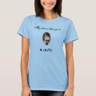 Camiseta Mi corazón pertenece a un Cajun