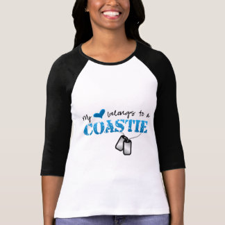 Camiseta Mi corazón pertenece a un Coastie
