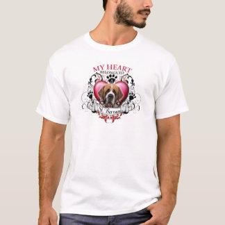 Camiseta Mi corazón pertenece a un St Bernard