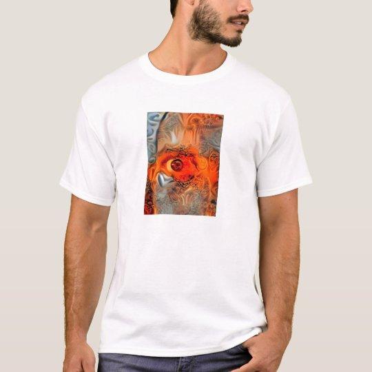 Camiseta Mi fractal Ojo-infernal versión-por KLM