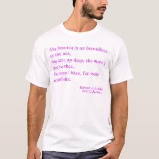 Camiseta Mi generosidad es tan ilimitada como el mar