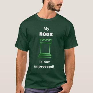 Camiseta ¡Mi GRAJO no se impresiona! (Pedazo de ajedrez)