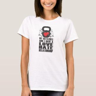 Camiseta Mi Kettlebell y yo tenemos una relación de amor y