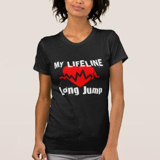 Camiseta Mi línea de vida salto de longitud se divierte