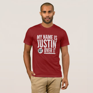 Camiseta Mi nombre es Justin consigue sobre él